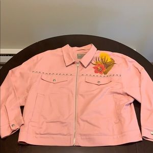 VERY CUTE Baby Pink Nevada Desert Jean Jacket
